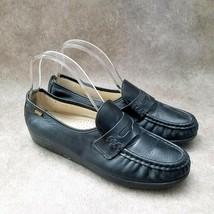 SAS Womens  569691 Sz 10 N Black  Leather Slip On Loafer Flats - $29.99