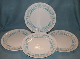 "Vintage Royal China Blue Heaven 10"" Dinner Plates - 4 In Set - Gray/Blue Vguvc - $28.95"