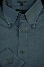Saks Fifth Avenue Men's Gray Pinpoint Oxford Fine Italian Casual Shirt X... - $17.76