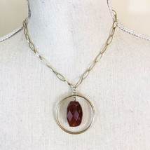 Liz Claiborne Gold Halo Agate Princess Necklace - $12.82