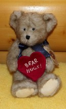 "Boyds Plush HUGGABEE 10"" Minky Soft Bear Holds Bear Hugs Heart - $9.49"