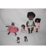 """Cute Lot 2"""" X 8 1/2"""" Small Black Dolls Figurines - $55.93"""
