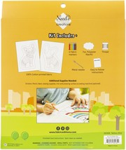 Fabric Editions Needle Creations Color Me Pillow Kit-Dog - $20.27