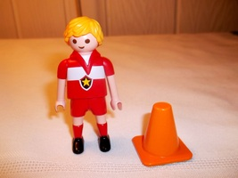 Playmobil Soccer Figure No Ball or Stand Replacement - $5.00