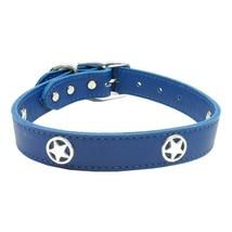 Blue Western Star Leather Dog Collar - 22 - $49.19