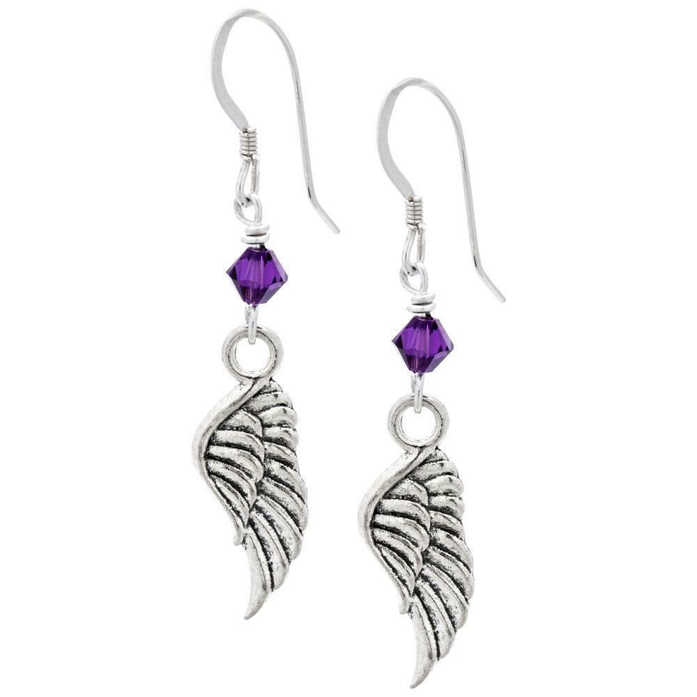 Primary image for GE7 REMEMBERING MY ANGEL, forever in my heart. Hook earrings in gift bag