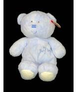 "TY Pluffies My Baby Bear Blue Plush Lovey 9"" Beanie Stuffed Tylux Teddy ... - $29.95"