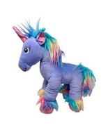 "Build A Bear Beary Fairy Friends Plush Purple Unicorn Rainbow Fur 15"" Ta... - $14.00"