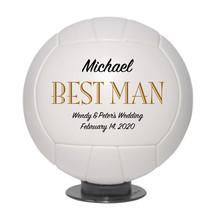 Best Man Regulation Volleyball Wedding Gift - Personalized Wedding Favor - $59.95