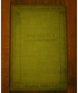 Macaulay's Lives Of Goldsmith And Johnson (T.B. Macaulay - 1906) Hardcover - $9.41