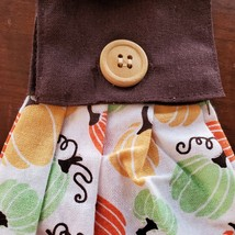 Kitchen Tie Towels, set of 2, Pumpkin Spice design, fall kitchen decor tea towel image 6