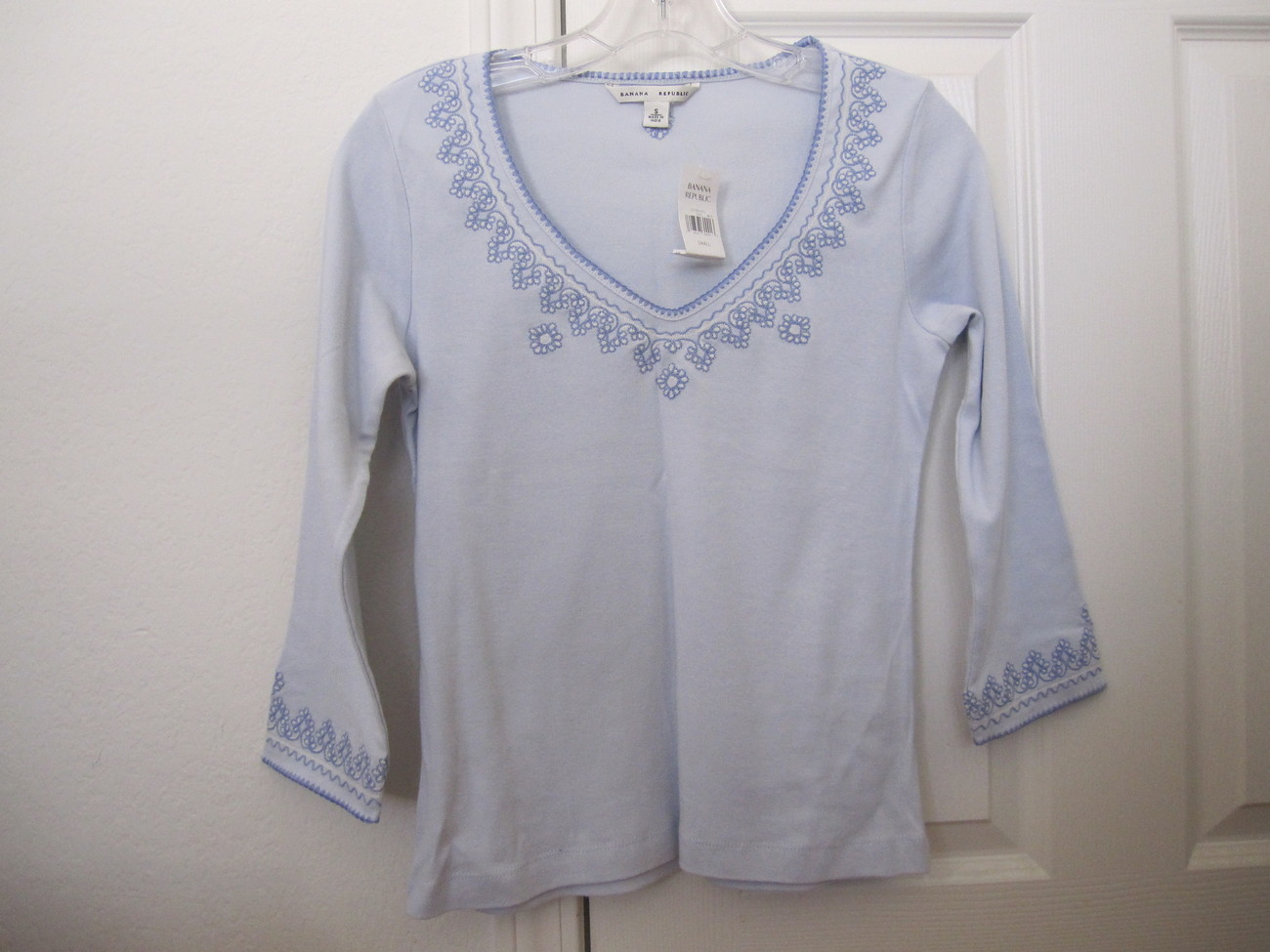 NWT Banana Republic Baby Blue Top - size S