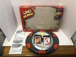 Uno Flash Electronic Mattel 2007 Sounds Lights Card Game 100% Complete Tested - $62.88