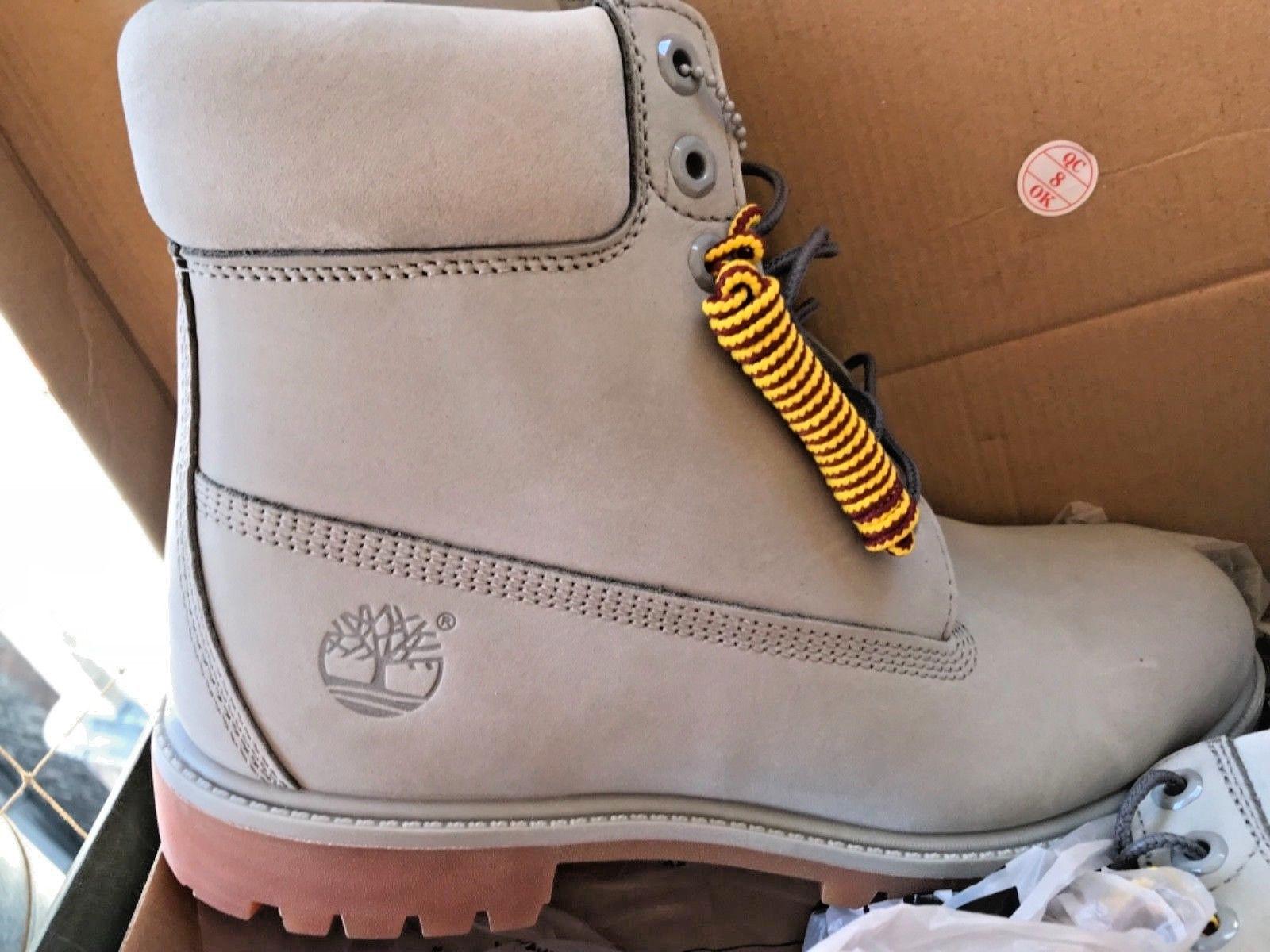 Timberland Men's Premium 6 Inch Waterproof Leather Tan Boots
