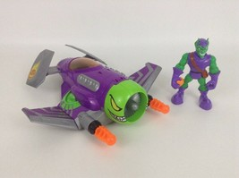 Green Goblin Hover Jet Toy Marvel Spider Man Hasbro with Figure Projecti... - $31.14