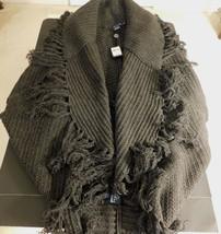 Ralph Lauren Collection Grau Fransen Schal Strickjacke Pullover M NT$ 527+ - $221.56