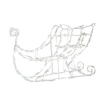 """48"""" Lighted White Sleigh Outdoor Christmas Decoration - Clear Lights - £36.48 GBP"""