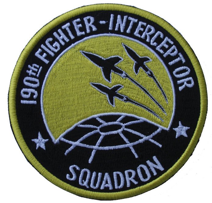 "190th Fighter Interceptor Squadron 4.75"" Patch"