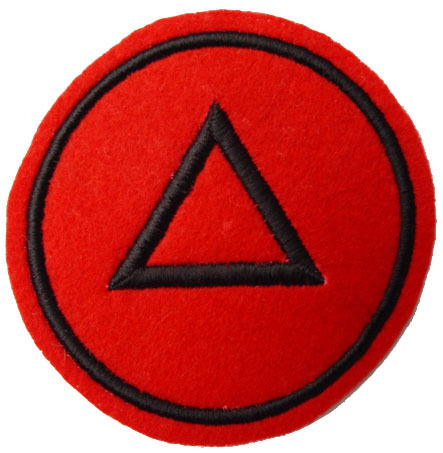 "UFO SAME AS WORN WITNESSED - TRILATERAL 3.5"" Patch"