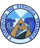 """UFO I SURVIVED THE BERMUDA TRIANGLE 5"""" PATCH  - $19.99"""