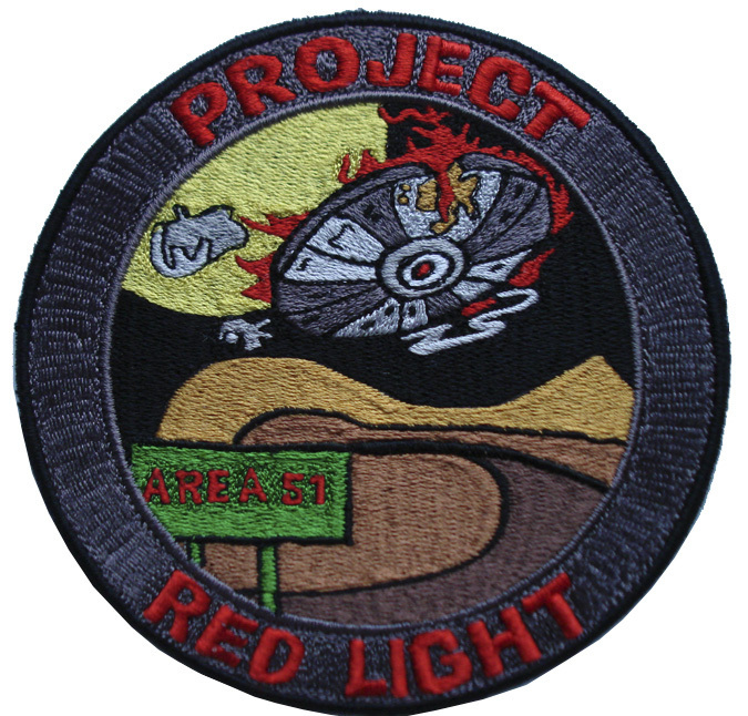 "UFO ALIEN PROJECT RED LIGHT 5"" PATCH"