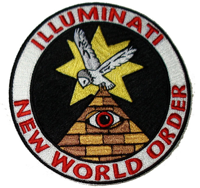 "ILLUMINATI NEW WORLD ORDER NOVELTY 5"" PATCH"