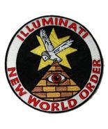 "ILLUMINATI NEW WORLD ORDER NOVELTY 5"" PATCH - $19.00"