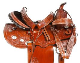 CUSTOM COMFY GAITED WESTERN PLEASURE TRAIL HORSE LEATHER SADDLE TACK 14 - $284.99