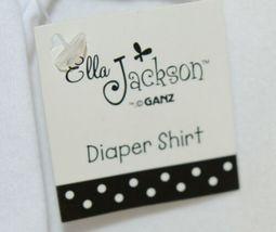 Ganz Ella Jackson Tie Suspenders Diaper Shirt Size 0 to 6 Months image 5