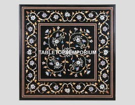 """30"""" Marble Side Coffee End Table Top Floral Inlay Remembrance Day Decor ... - $1,096.12"""