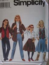 Simplicity Pattern 8563 Girls Pants Shirt Skirt 7-14 UNCUT Vintage SEWING - $4.89
