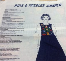 Dreamspinners Pins & Needles Seamstress Jumper Dress Pattern Instruction... - $14.01