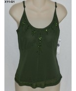 Nine and Company Size 6 Dark Olive Green Camisole NWT - $12.99