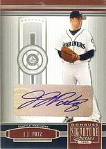 2005 DONRUSS SIGNATURE SEATTLE MARINERS AUTOGRAPH J J PUTZ RARE LIMITED ... - $29.99