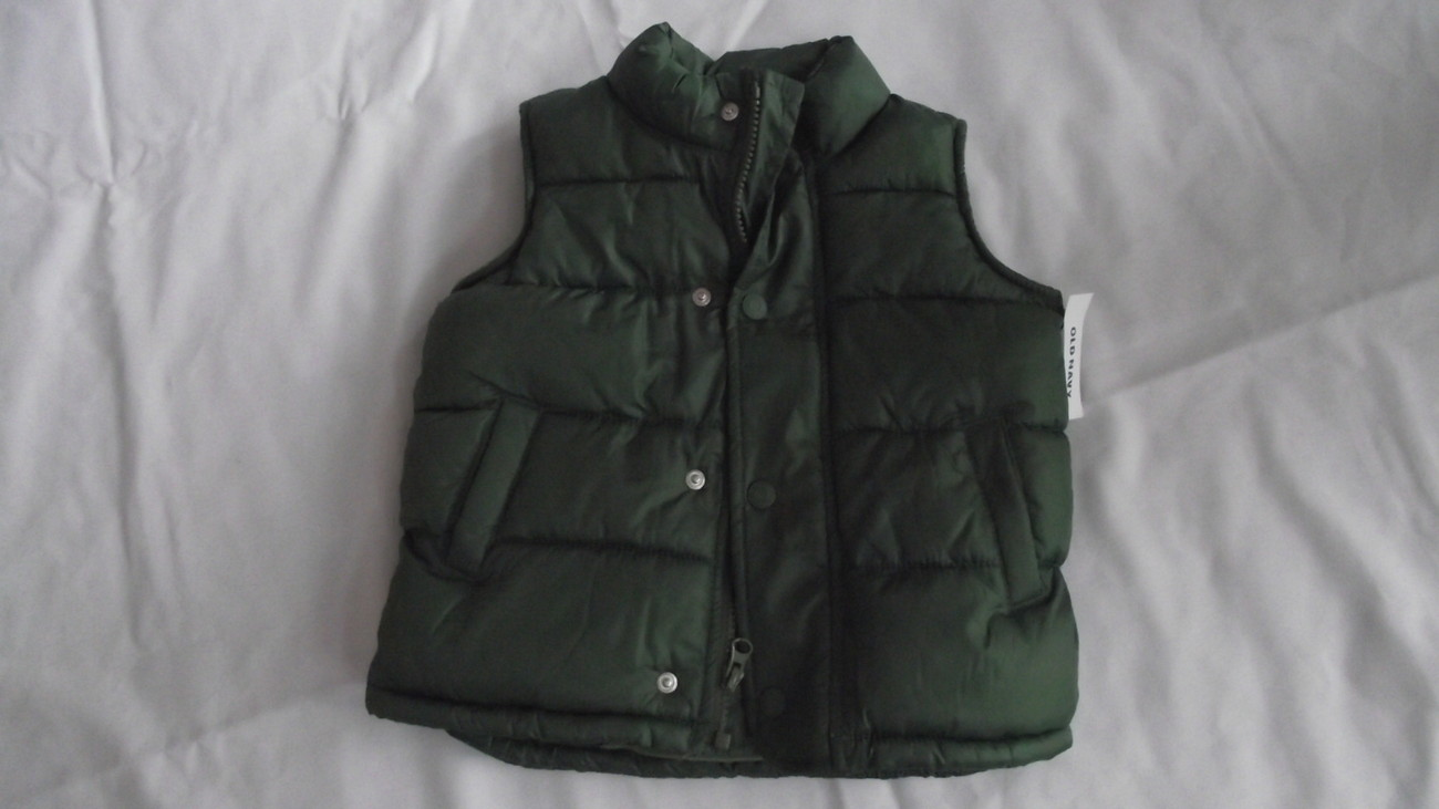 Old Navy Toddler 2T Vest with long sleeve shirt