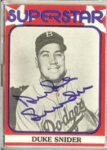 BROOKLYN DODGER DUKE SNIDER AUTOGRAPH SUPERSTAR CARD - $29.99