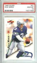 1995 Score Seattle Seahawks Psa 10 Rick Mirer - $29.99