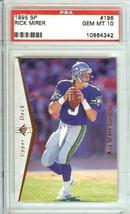 1995 Sp Seattle Seahawks Psa 10 Rick Mirer - $29.99