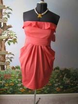 Jessica Simpson Dress Cocktail Strapless Pink Side Pockets Dress Size 12  - $63.36