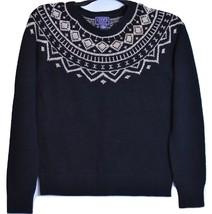 Chaps by Ralph Lauren Petite Black Scoopneck Gold Lurex Long Sleeve Sweater PM - $49.99