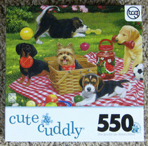 At the Park Vanderdasson Sure-Lox Cute & Cuddly Jigsaw Puzzle 550 Pcs Co... - $7.50