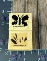Stampin' Up! Butterfly Grass Rubber Stamp Pair 2002 2003 Lot Set of 2 Wo... - $2.23