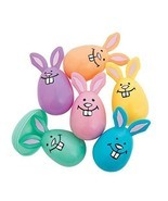 "Pastel Bunny Plastic Easter Eggs (12 Pack) 3 1/2"" - $10.44"