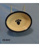 Ceramic Grey and Blue Dog Water or Food Bowl - $11.99