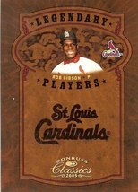 2005 donruss st.louis cardinals bob gibson serial #59/75 - $29.99