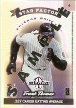 1997 Donruss Star Factor Chicago White Soxs Frank Thomas Promo Sample Rare - $24.99