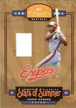 2005 DONRUSS MONTREAL EXPOS ANDRE DAWSON GAME USED JERSEY SERIAL # 35/250 - $24.99