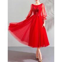Women Beautiful Flower Lace Elegant Wedding Dress - $139.99