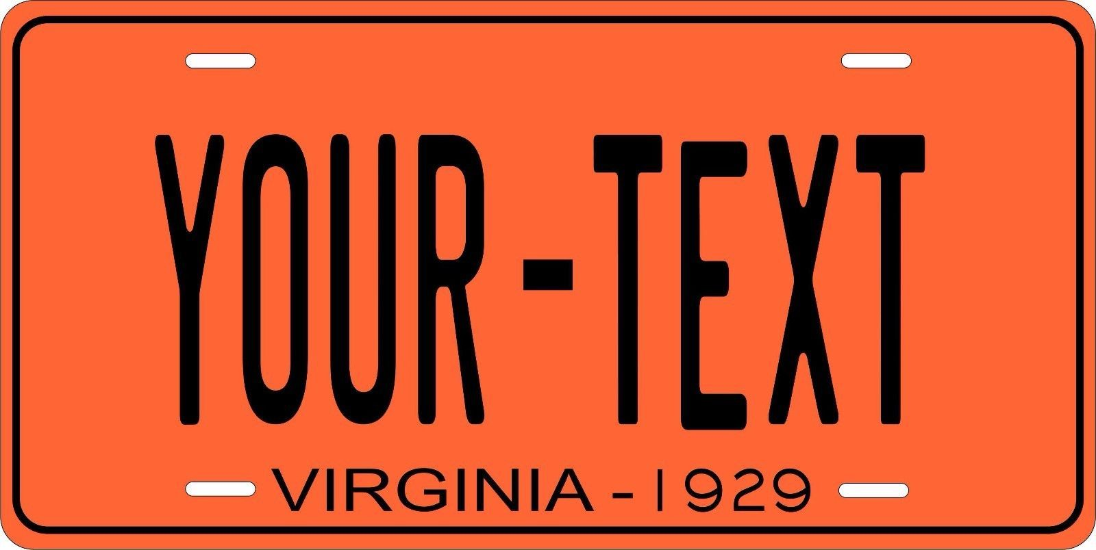Virginia 1939 License Plate Personalized Custom Auto Bike Motorcycle Moped Tag