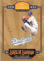 2005 donruss los angeles dodgers orel hershiser serial # 34/50 - $19.99